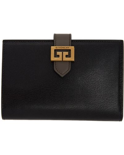 Czarny portfel na monety skórzany Givenchy