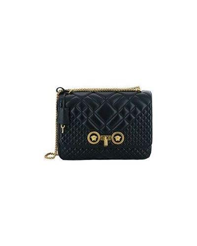 Кожаная сумка спортивные черная Versace