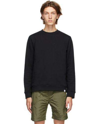 Czarny bluza z długimi rękawami z mankietami z kołnierzem Norse Projects