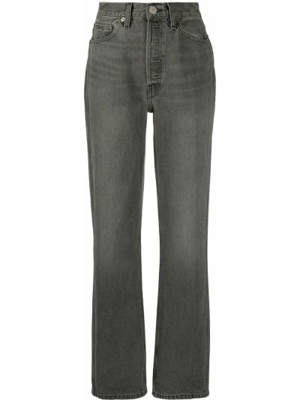 Прямые серые джинсы классические с карманами Re/done
