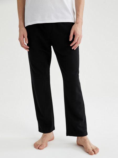 Пижама со штанами - черная Defacto