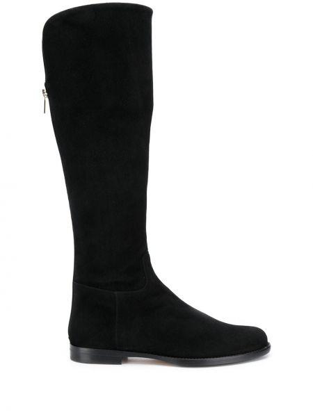 Кожаные черные ботинки на каблуке на каблуке на молнии Unützer