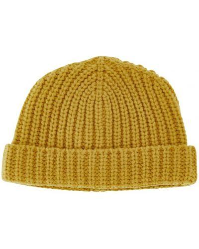 Żółta czapka prążkowana Alanui