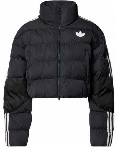 Czarna kurtka z paskiem Adidas Originals