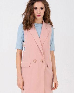 Розовая костюм с жилетом Ricamare