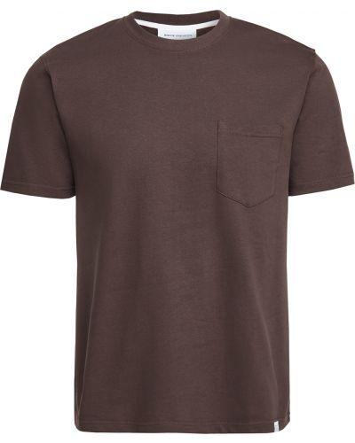Brązowa koszula bawełniana krótki rękaw Norse Projects