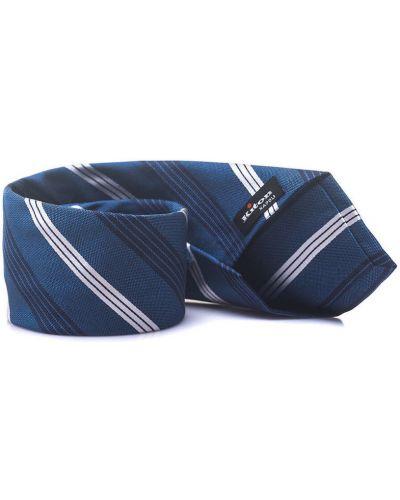 Niebieski krawat z jedwabiu Kiton
