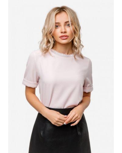 Блузка с коротким рукавом розовая осенняя Solou