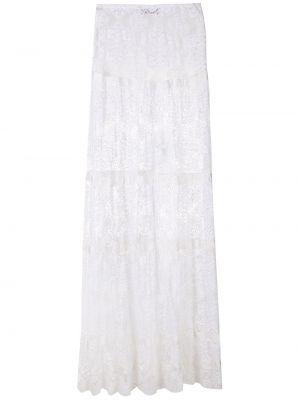 Белая прямая юбка макси прозрачная Amir Slama