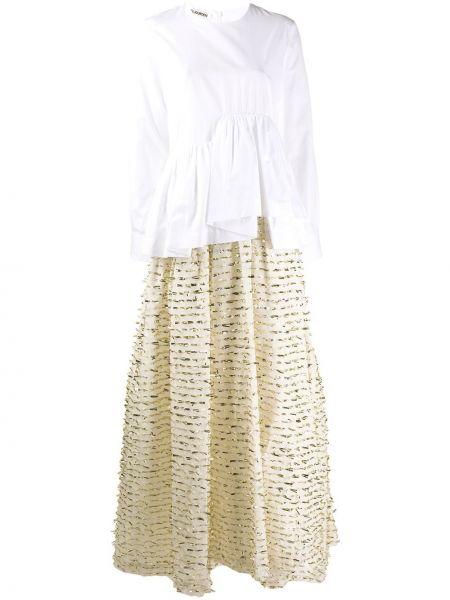 Вечернее платье с баской платье-рубашка Jourden