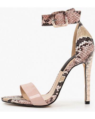 Кожаные розовые босоножки Marco Bonne