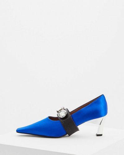 Туфли на каблуке с открытым носком осенние Marni