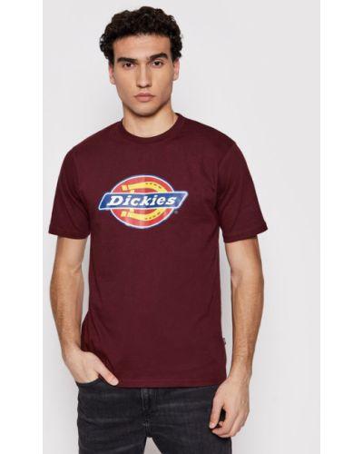 T-shirt - bordowa Dickies