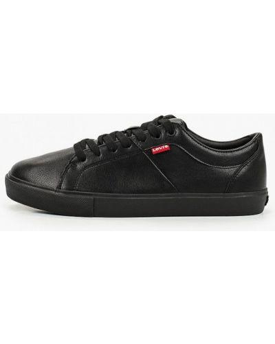 Кожаные черные низкие кеды Levi's®