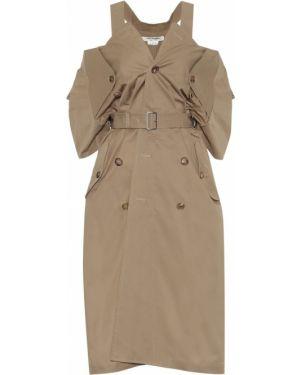Платье миди через плечо классическое Junya Watanabe