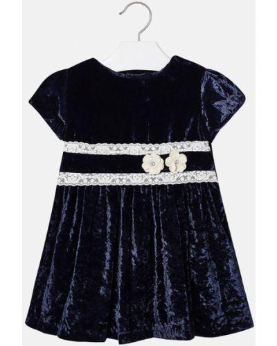 Платье с рукавами однотонное короткое Mayoral