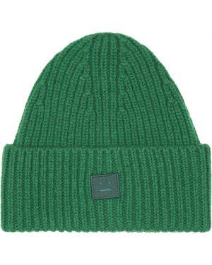 Зеленая шерстяная шляпа Acne Studios Kids