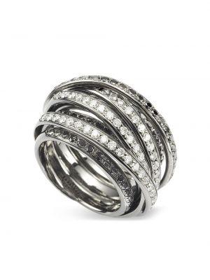 Czarny złoty pierścionek z diamentem Mattioli