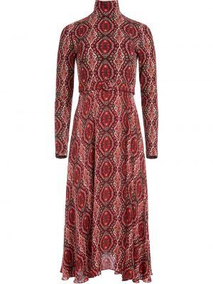 Красное платье макси с длинными рукавами с бриллиантом из вискозы Alice+olivia