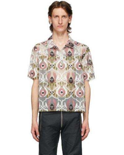 С рукавами черная рубашка с короткими рукавами с воротником с вышивкой Gmbh