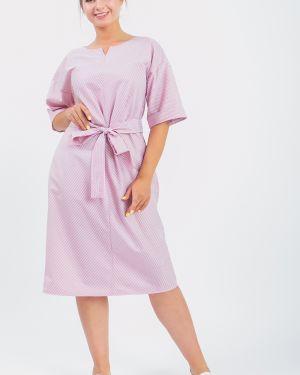 Платье с поясом в полоску через плечо Lacywear