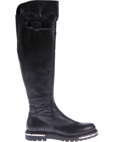 Ботфорты на каблуке кожаные Mara
