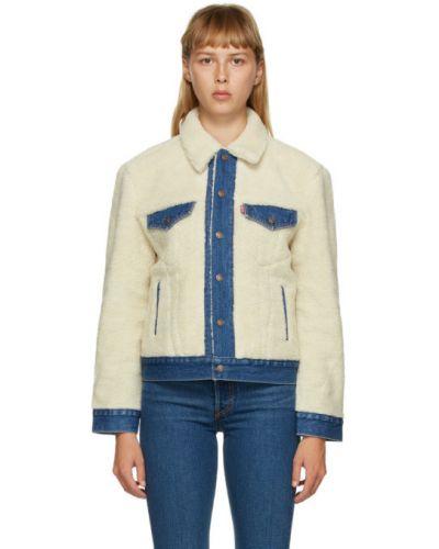 Теплая синяя джинсовая куртка с манжетами с воротником Levi's®