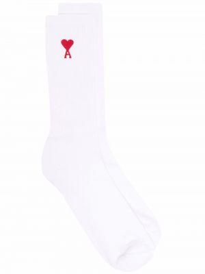Носки в рубчик - белые Ami Paris