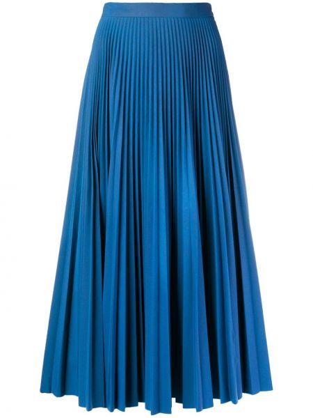 Плиссированная юбка миди синяя Maison Margiela