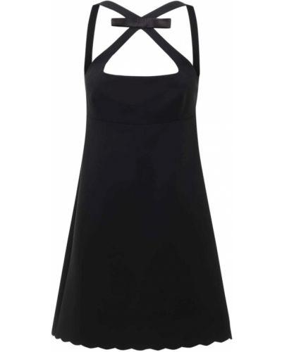 Черное платье мини с подкладкой Miu Miu