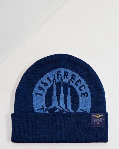 Синяя шапка осенняя Aeronautica Militare