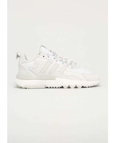 Białe joggery sznurowane Adidas Originals