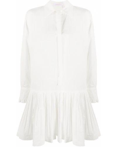 С заниженной талией платье с вышивкой на пуговицах с воротником See By Chloé