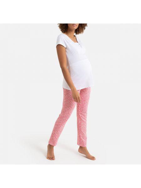 Пижама с брюками с цветочным принтом с короткими рукавами La Redoute