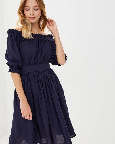 Платье с открытыми плечами осеннее Alina Assi