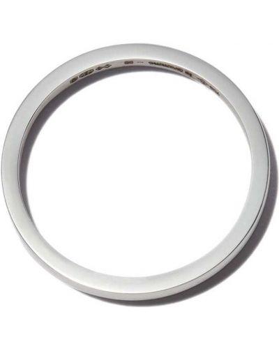 Złoty pierścionek - biały Le Gramme
