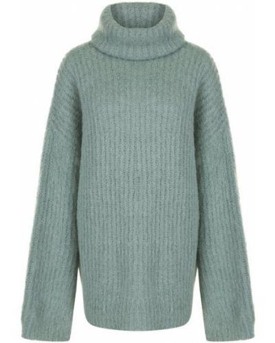 Вязаный свитер свободного кроя шерстяной Erika Cavallini