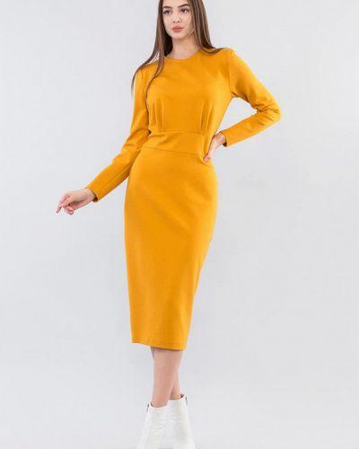 Желтое платье-футляр Maxa