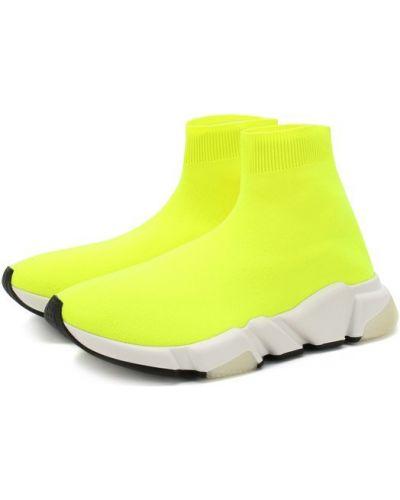 Желтые кроссовки текстильные Balenciaga