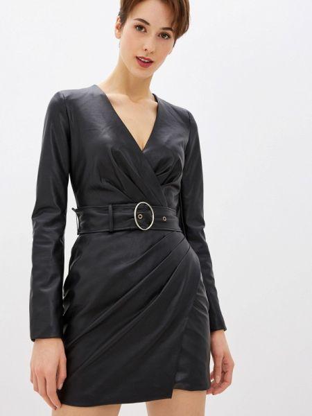 Джинсовое платье кожаное черное Guess Jeans