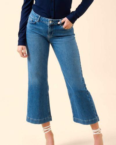 Niebieskie jeansy bawełniane Orsay