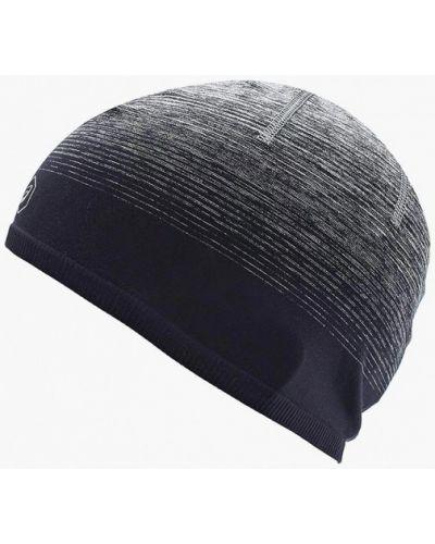 Серая шапка осенняя Asics