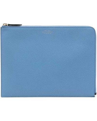 Niebieska torebka skórzana Smythson