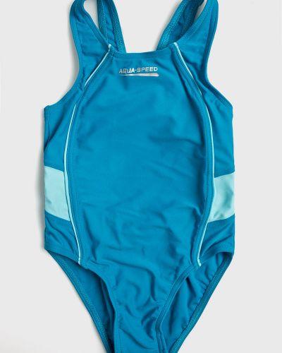 Слитный купальник эластичный бирюзовый Aqua Speed