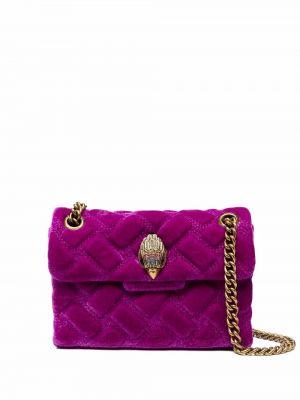 Złota torebka na łańcuszku - fioletowa Kurt Geiger London
