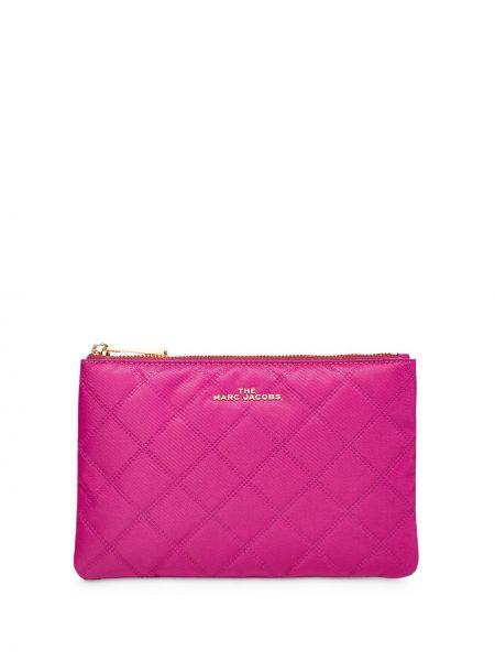 Стеганая золотистая розовая косметичка Marc Jacobs