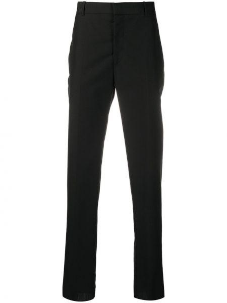 Wełniany spodnie z paskiem Alexander Mcqueen