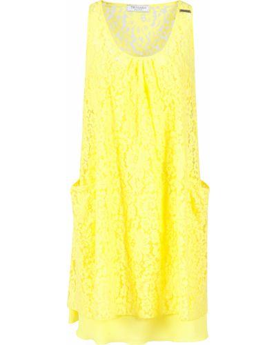Хлопковое платье - желтое Trussardi Collection