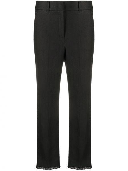 Хлопковые черные брюки Weekend Max Mara