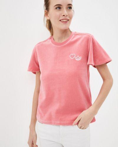 Розовая футболка Adidas Originals